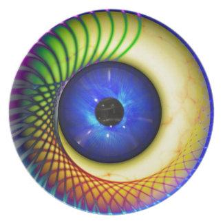 spiral-240131 FANTASY DIGITAL REALISM spiral, endl Plate