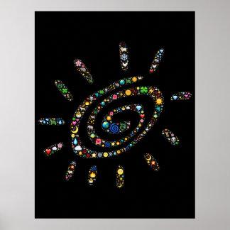 spiral-556878 SUNSHINE FINGERPRINT ASSORTED RANDOM Poster