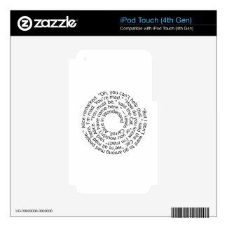 Spiral-alicewonderland2 Calcomanía Para iPod Touch 4G