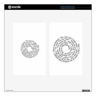 Spiral-alicewonderland2 Skin Para Kindle Fire