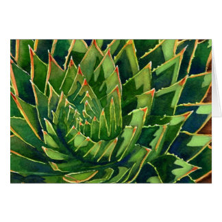 Spiral aloe notecard stationery note card