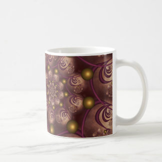 Spiral and Spheres Pink Fractal Coffee Mug