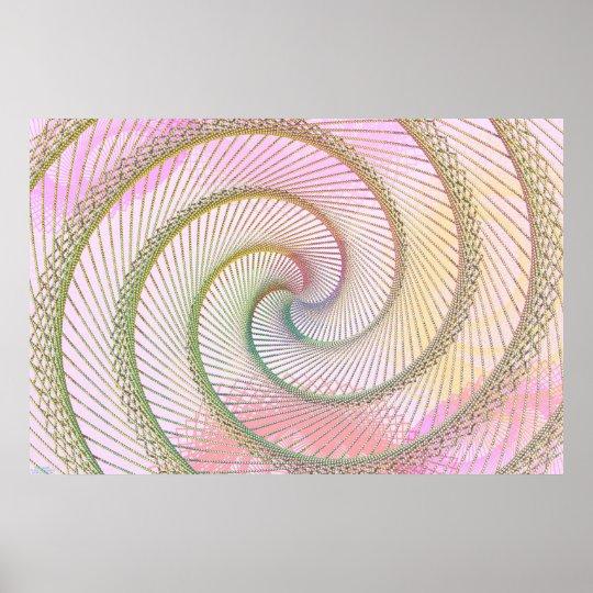 Spiral Beads Poster