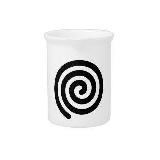 Spiral Beverage Pitcher
