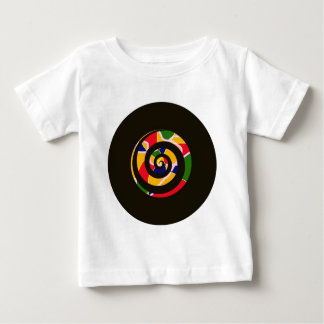 SPIRAL BLACK AND COLORS BABY T-Shirt
