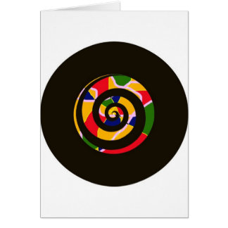 SPIRAL BLACK AND COLORS CARD