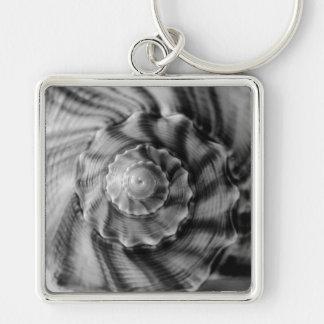 Spiral, Black and White Key Chain