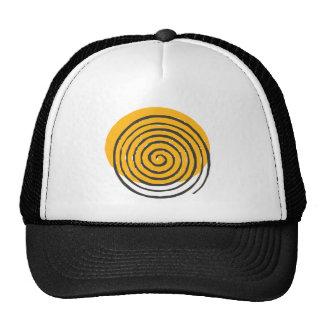 Spiral Black Mesh Hats