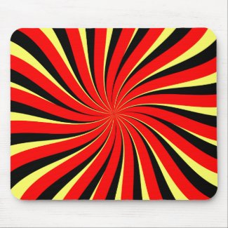 Spiral Black Red Yellow