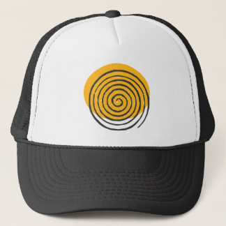 Spiral Black Trucker Hat