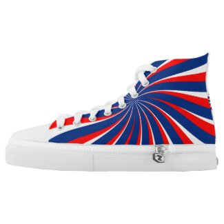 Spiral Blue White Red