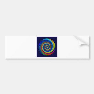 Spiral Blur Bumper Stickers