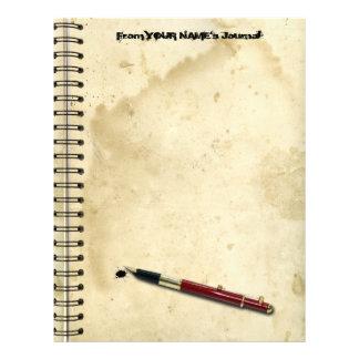 Spiral Bound Journal Letterhead
