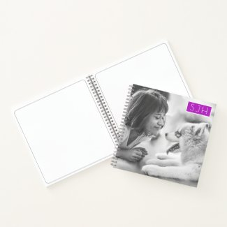 Spiral Bound Sketch Pad Photo Template Monogram Notebook