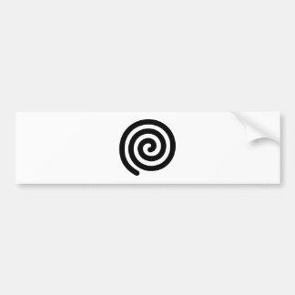 Spiral Bumper Sticker