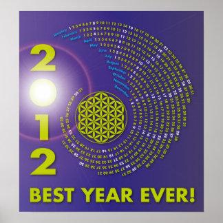Spiral Calendar 2012, The Flower of Life Póster