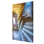 Spiral Castle Staircase, France Canvas Print