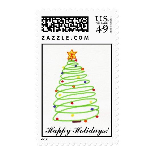 Spiral Christmas Tree Stamp