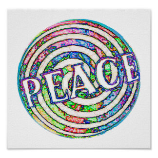 Spiral Circle Peace Poster
