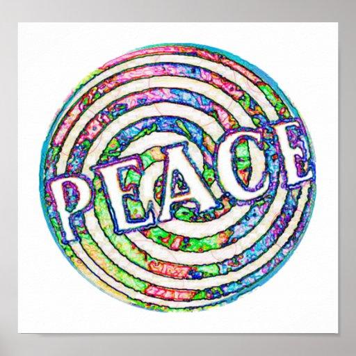 Spiral Circle Peace Poster