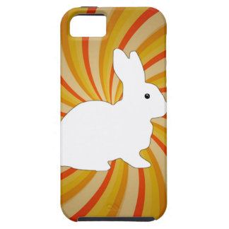 Spiral Circles Colorful With White Bunny iPhone SE/5/5s Case