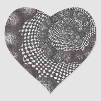 spiral circles.PNG Spiral Circles In Ink Heart Sticker