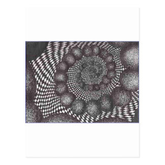 spiral circles.PNG Spiral Circles In Ink Postcard