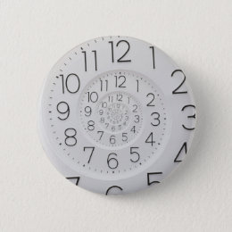 Spiral Clock Droste Button
