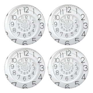 Spiral Clock Droste Button Covers