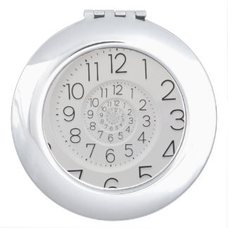 Spiral Clock Droste Compact Mirror