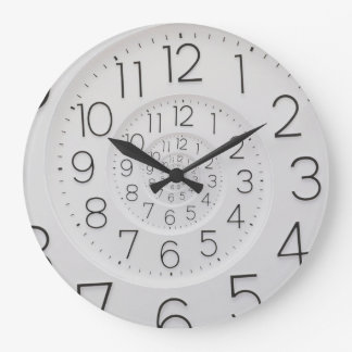 Spiral Clock Droste Wall Clock Large