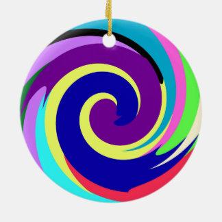 Spiral Color Ceramic Ornament