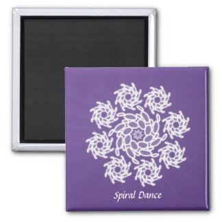 Spiral Dance 2 Inch Square Magnet