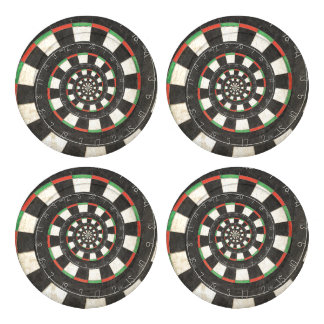 Spiral Dart Board Droste Button Covers