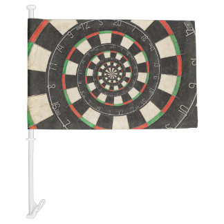 Spiral Dart Board Droste Car Flag