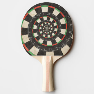 Spiral Dart Board Droste Effect Ping Pong Paddle