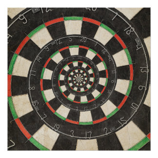 Spiral Dart Board Droste Effect Poster