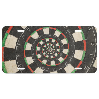 Spiral Dart Board Droste License Plate
