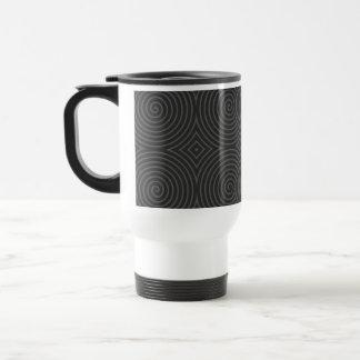 Spiral design in dark gray. mugs