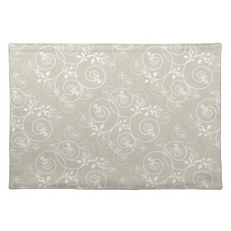Spiral Design on Tan Fabric Placemat