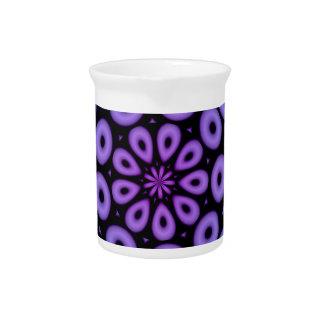 Spiral Design Purple Circles Drink Pitcher