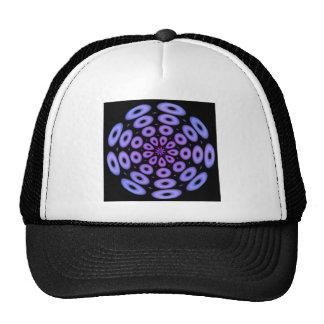Spiral Design Purple Circles Trucker Hat