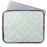 Spiral Design with Green Fabric Laptop Sleeve