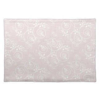 Spiral Design with Pink Fabric Place Mats