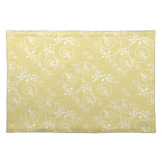 Spiral Design with Yellow Fabric Placemat