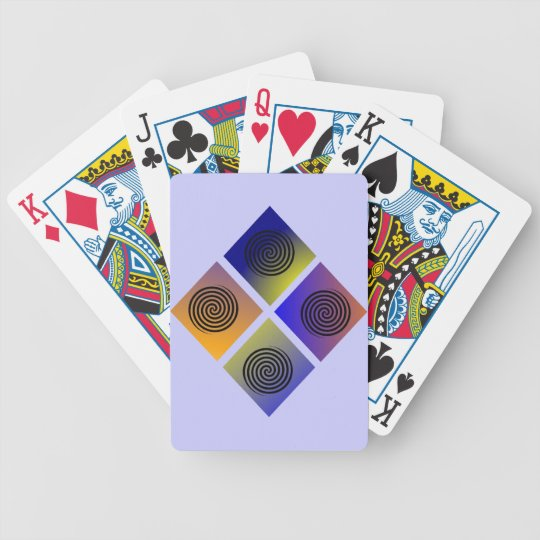 Spiral Diamonds Bicycle Playing Cards
