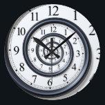 """Spiral Droste Clock Wall Clock<br><div class=""""desc"""">Spiral Droste Clock</div>"""