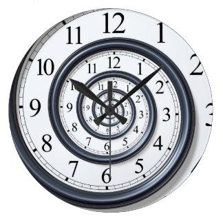 Spiral Droste Clock Wall Clock