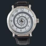 """Spiral Droste Clock Watch<br><div class=""""desc"""">Spiral Droste Watch</div>"""