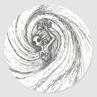 Spiral Encompassing Classic Round Sticker